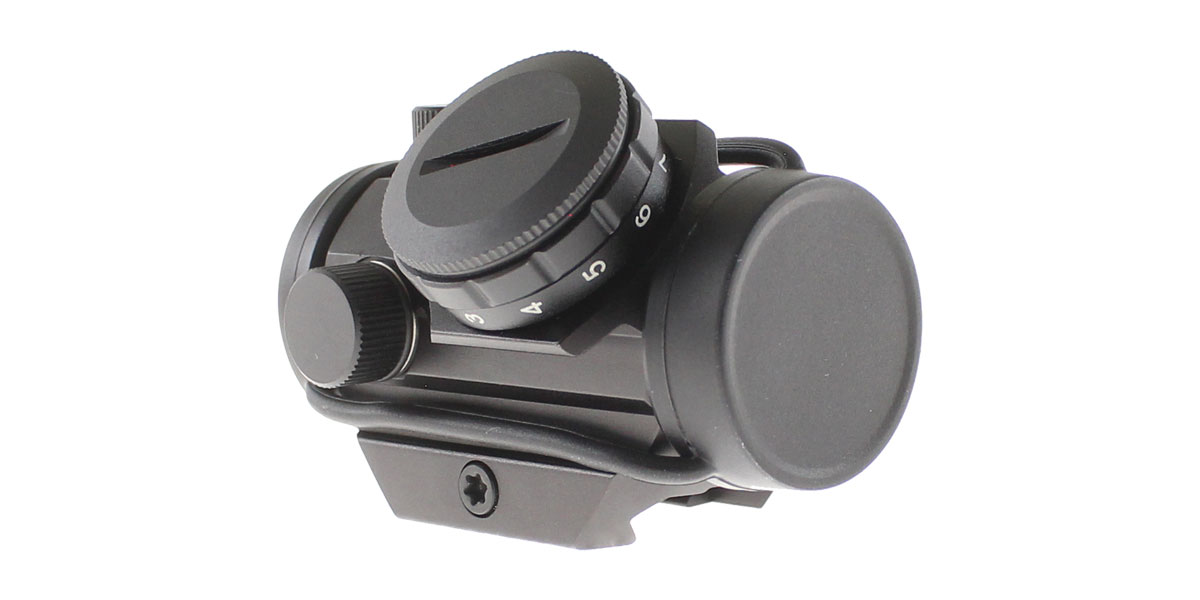 Red Dot Sight w/ Low Profile Rail Mount, 2 MOA Dot, 20MM Objective Lens - Black Finish