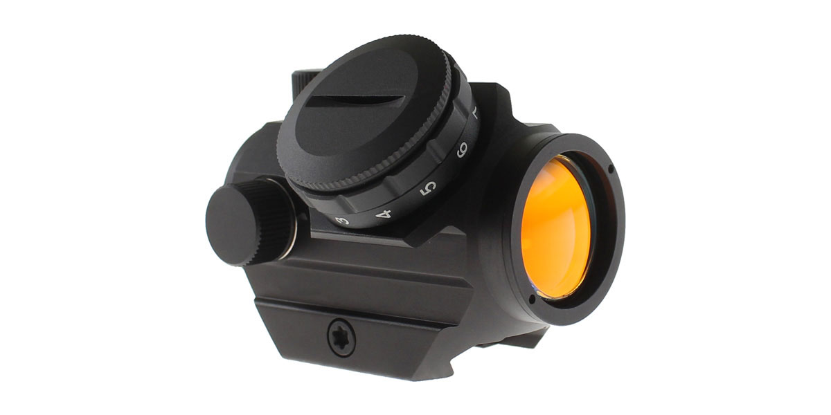 Red Dot Sight w/ Low Profile Rail Mount, 2 MOA Dot, 23MM Objective Lens - Black Finish