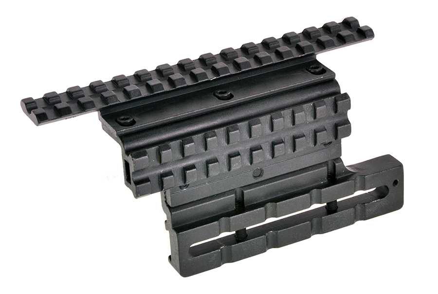 Omega mfg adjustable ak double rail side mount - Double rail coulissant ...