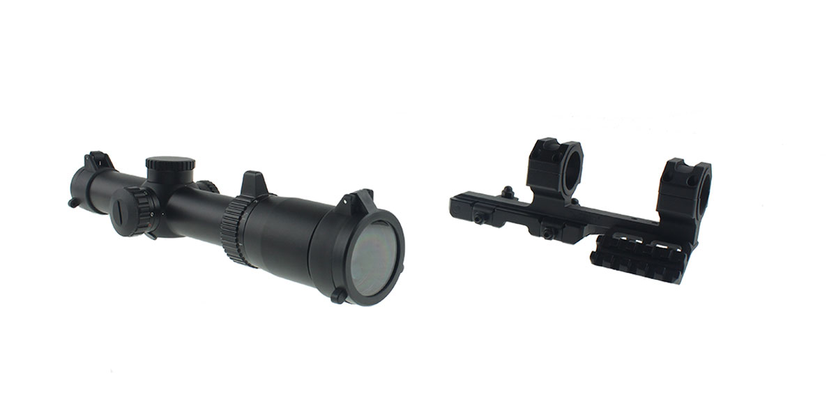 NCStar Shooters Combo 1-6x24 Scope with SPR Mount