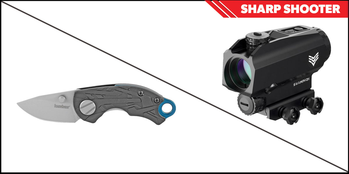 Delta Deals Sharp Shooter Combos: Swampfox Optics Blade Prism Sight Red Dot 1x25 + Kershaw Aftereffect Folding Knife
