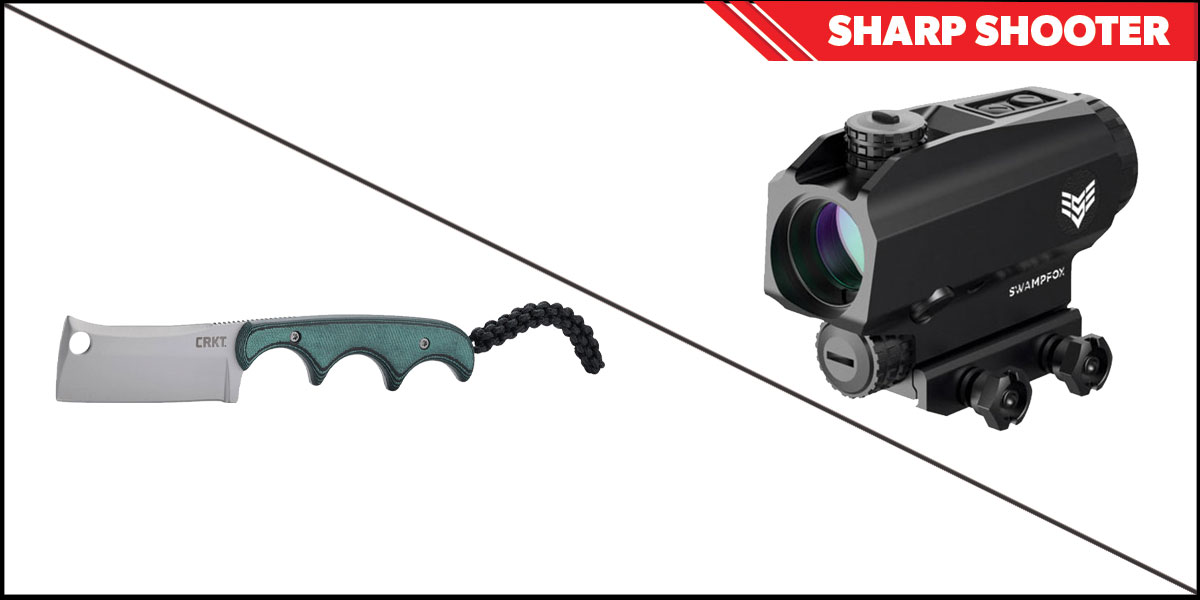 Delta Deals Sharp Shooter Combos: Swampfox Optics Blade Prism Sight Red Dot 1x25 + CRKT Minimalist Cleaver