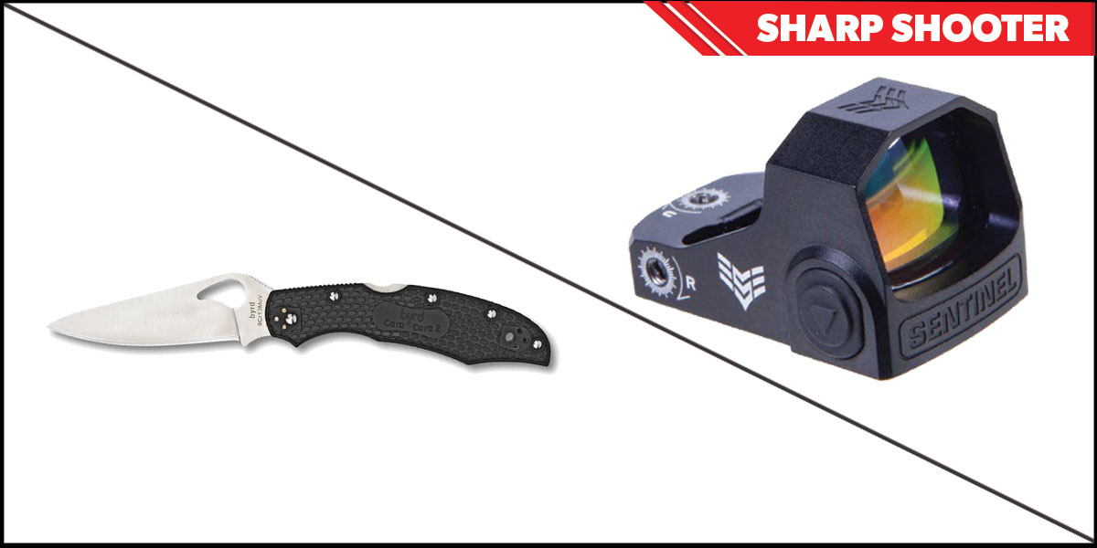 Delta Deals Sharp Shooter Combos: Swampfox Optics Sentinel Red Dot 1x16 Manual Brightness + Spyderco Byrd Folding Knife