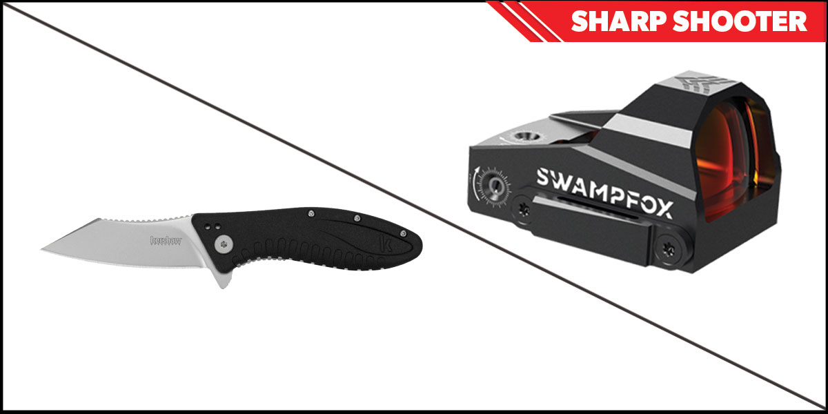 Delta Deals Sharp Shooter Combos: Swampfox Optics Kingslayer Red Dot 1x22 + Kershaw Grinder Folding Knife