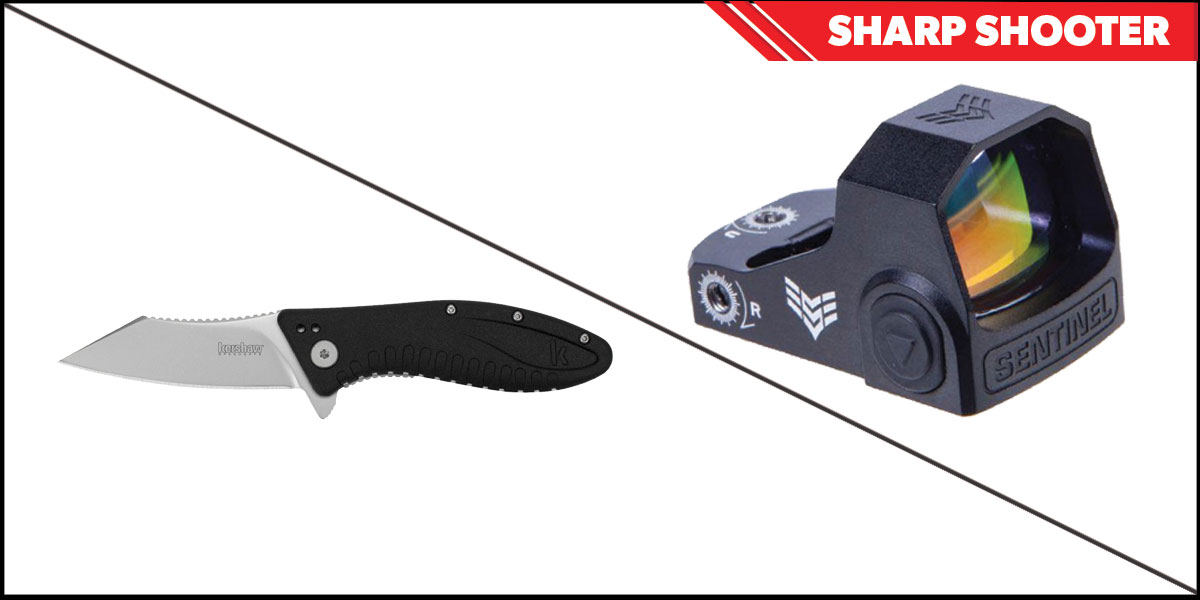 Delta Deals Sharp Shooter Combos: Swampfox Optics Sentinel Red Dot 1x16 Manual Brightness + Kershaw Grinder Folding Knife
