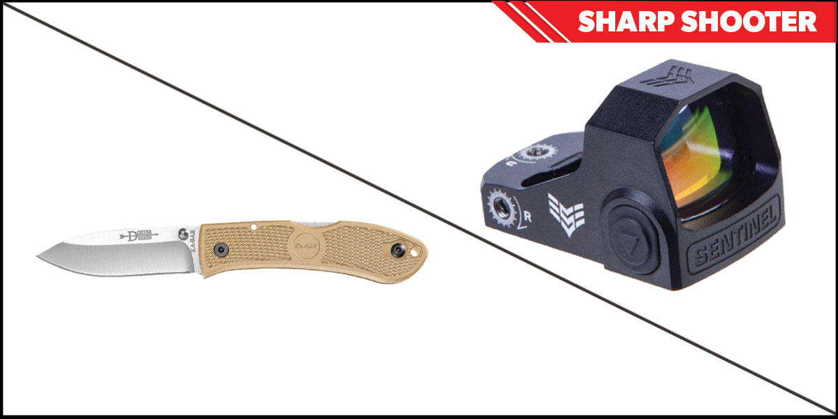 Delta Deals Sharp Shooter Combos: Swampfox Optics Sentinel Red Dot 1x16 Manual Brightness + KABAR Hunter Folding Knife 4.25