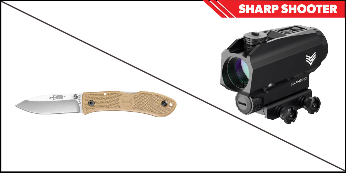 Delta Deals Sharp Shooter Combos: Swampfox Optics Blade Prism Sight Red Dot 1x25 + KABAR Hunter Folding Knife 4.25