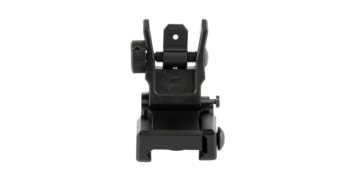 Leaper, Inc. - UTG Low Profile Flip-Up Rear Sight, Dual Aperture, Fits Picatinny, Black