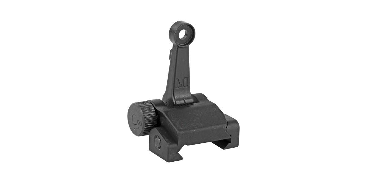 Midwest Industries Rifle Rear Flip-up Sight, Mil-Spec