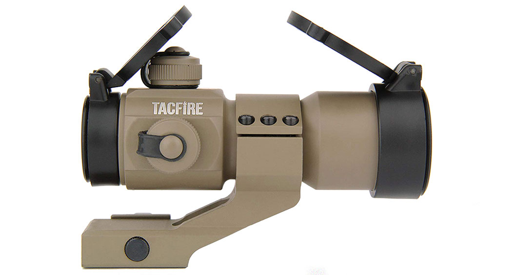 TacFire 1x30 Dual-Illuminated Red Dot Sight w/ Cantilever Mount - FDE