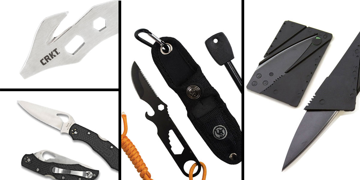 Tactical Gift Box CRKT, K.E.R.T. Key Ring Emergency Tool + UST Paraknife 2.0 FS + Spyderco Folding Knife + 5.5