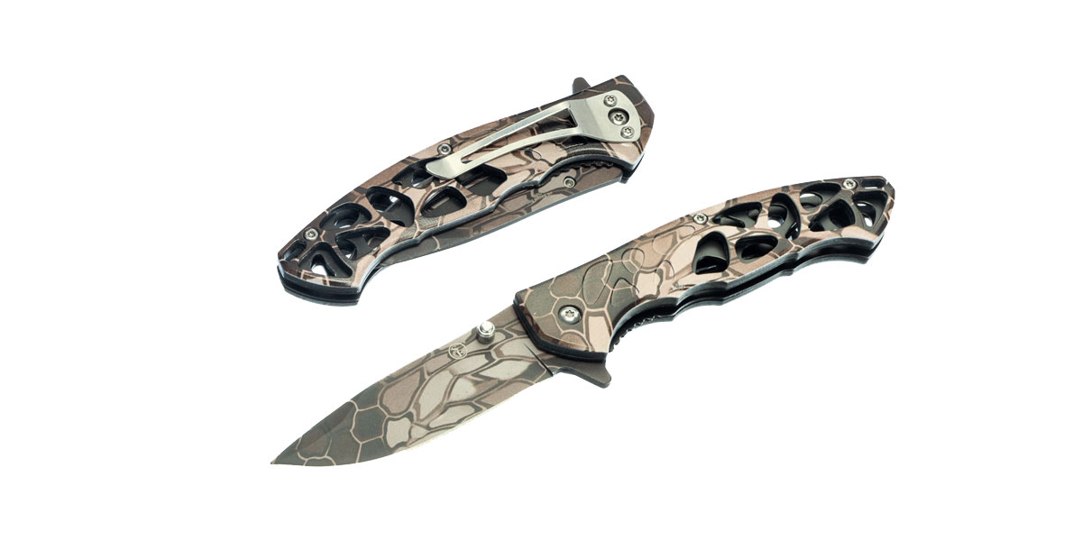 GS Knife Co. Spring Assisted Pocket Knife with Pocket Clip, 4-1/2