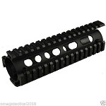 Omega Mfg. Carbine Length Drop-In Quad Rail Handguard Extended Rail Design
