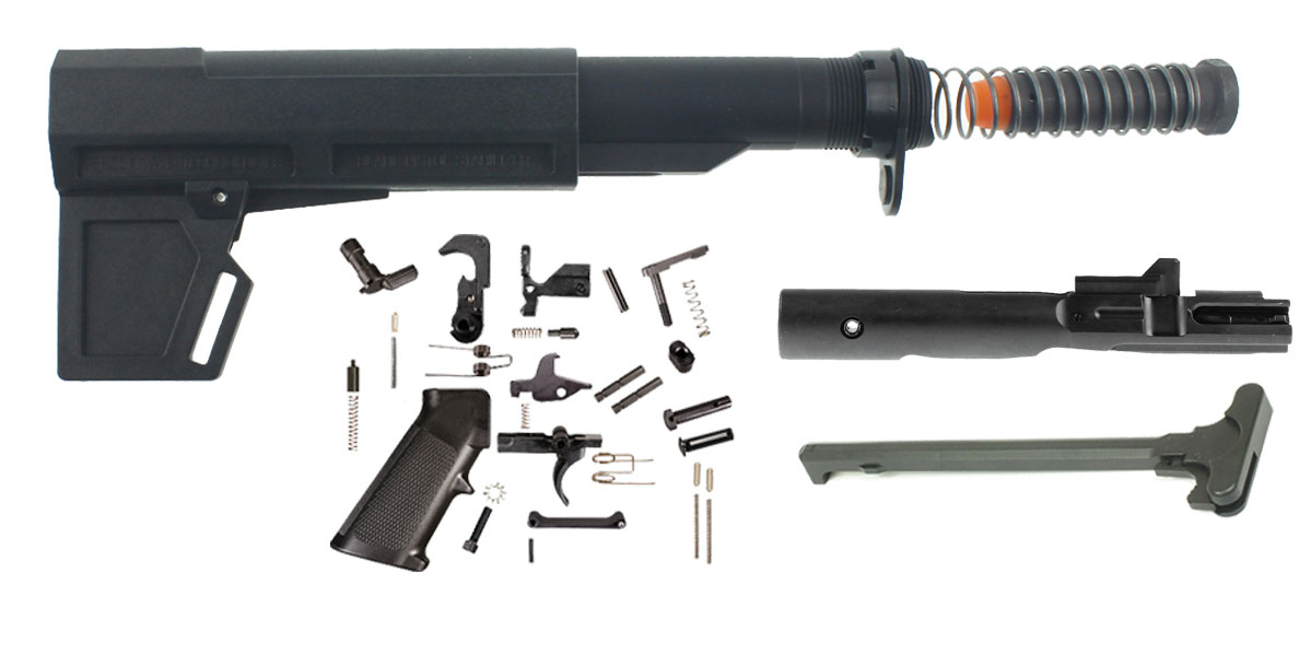 Delta Deals KAK Shockwave 2.0M AR-15 Finish Your Pistol Build Kit - 9mm