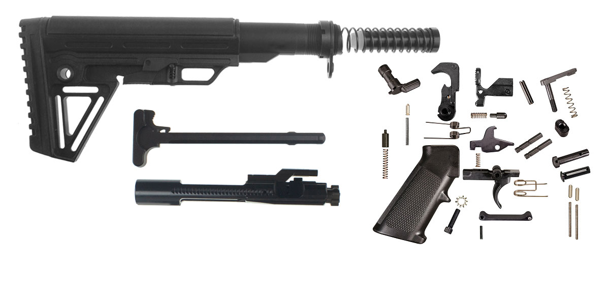 Trinity Force Alpha Stock AR-15 Finish Your Rifle Kit - Alpha  5 56/ 223/ 300 BLKOUT/ 350 Legend