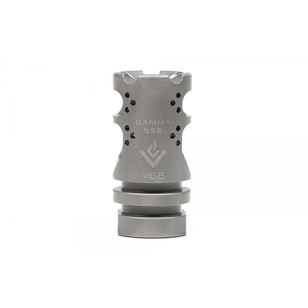 VG6 Precision Gamma 5.56 Short Bead Blasted Stainless Steel Muzzle Brake