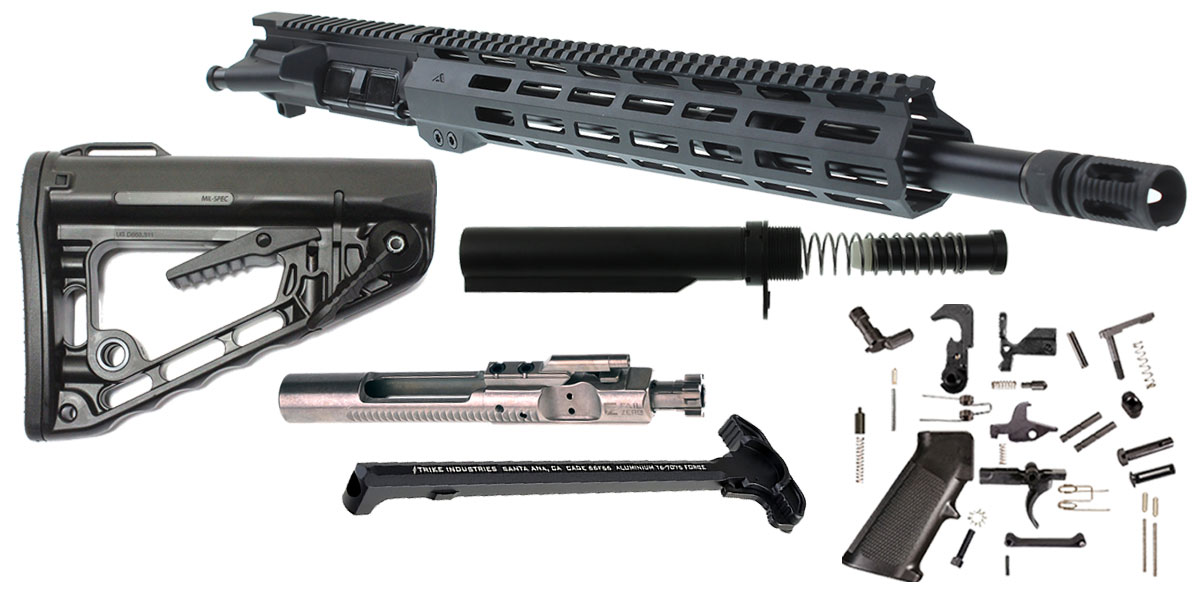 "DTT Customs Elite Series ""Gibbs"" AR-15 Featuring An Aero Precision Upper  Receiver 16"" Rosco Bloodline 5 56 NATO 1-7T QPQ Nitride Barrel 13 5"" AIM"