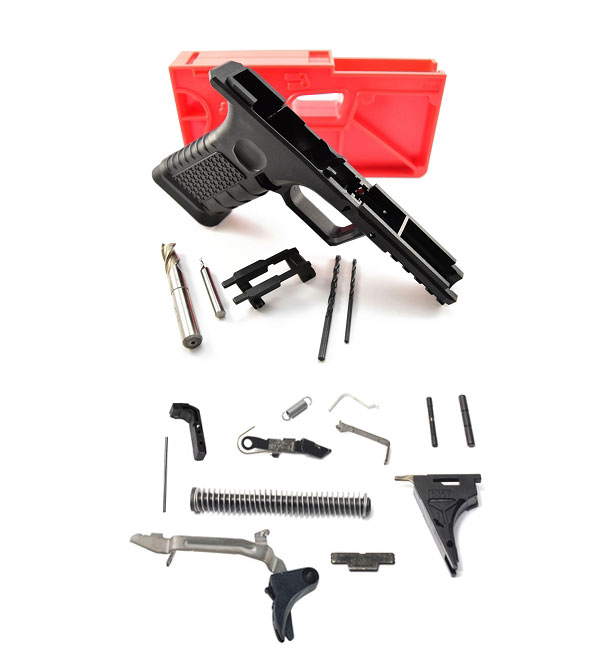 Polymer 80 Glock 80% Pistol Kit Includes Jig & Tools  + Lower Parts Kit EZ To Build Super HOT !!