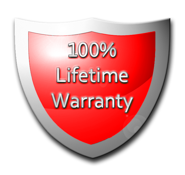 100% Lifetime Warranty