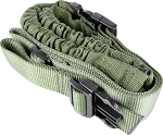 One-Point Bungee Rifle Sling/Steel Clip/Green