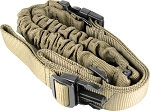 One-Point Bungee Rifle Sling/Steel Clip/Tan