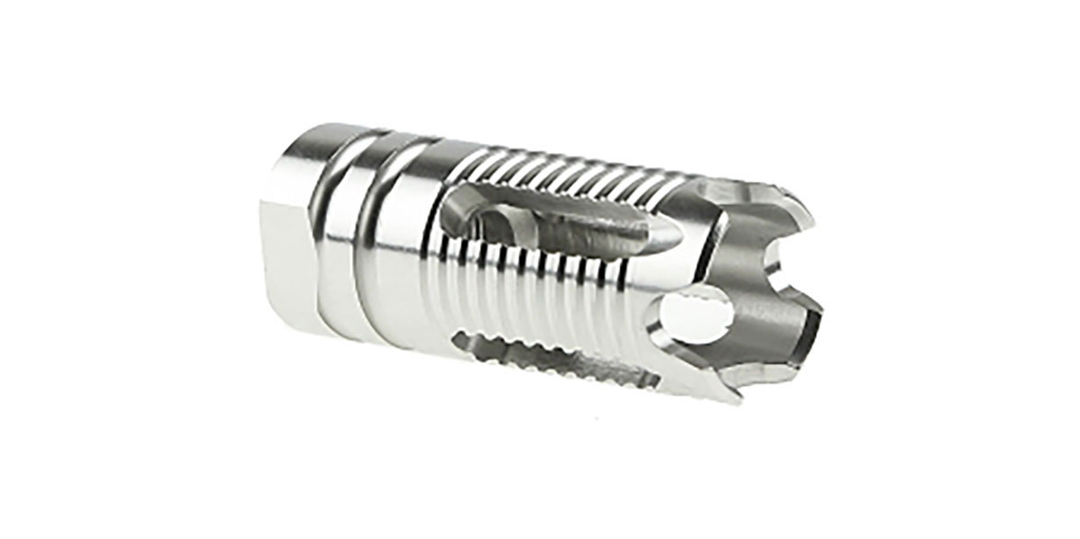 Recoil Technologies LR-308 Stainless Steel 4 Slot Muzzle Device