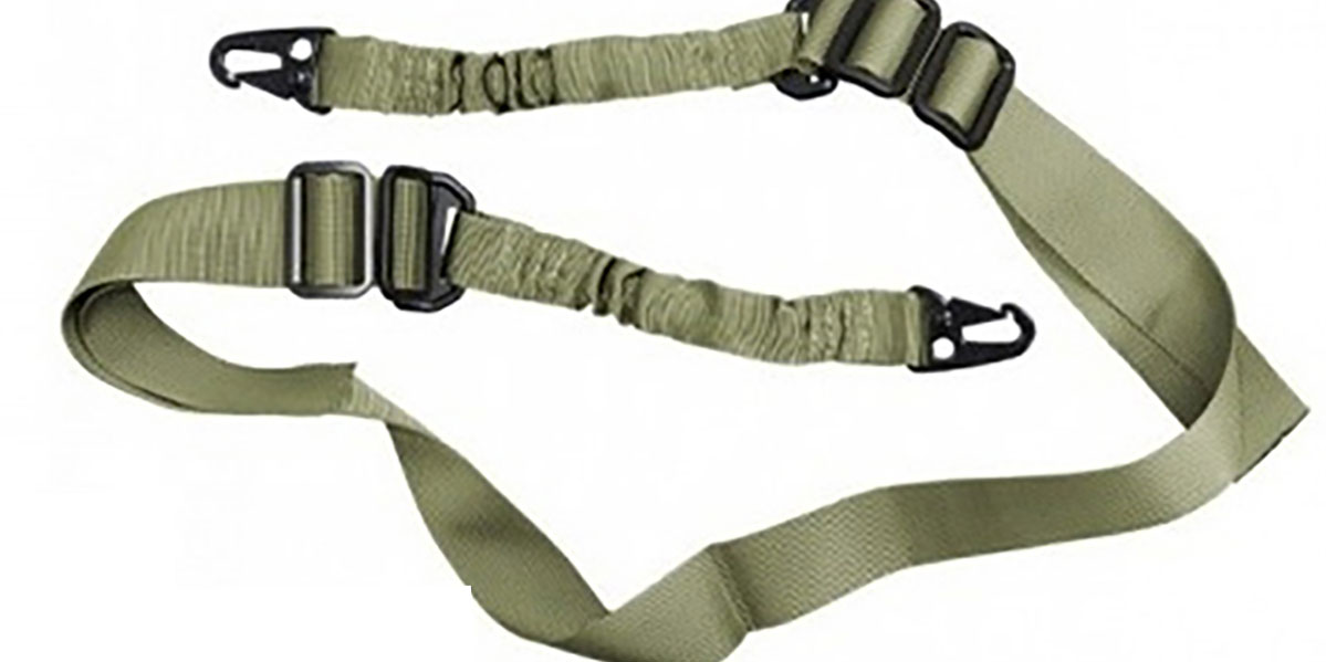 AR-15 Two Point Tactical Bungee Sling With HK Clips - OD Green
