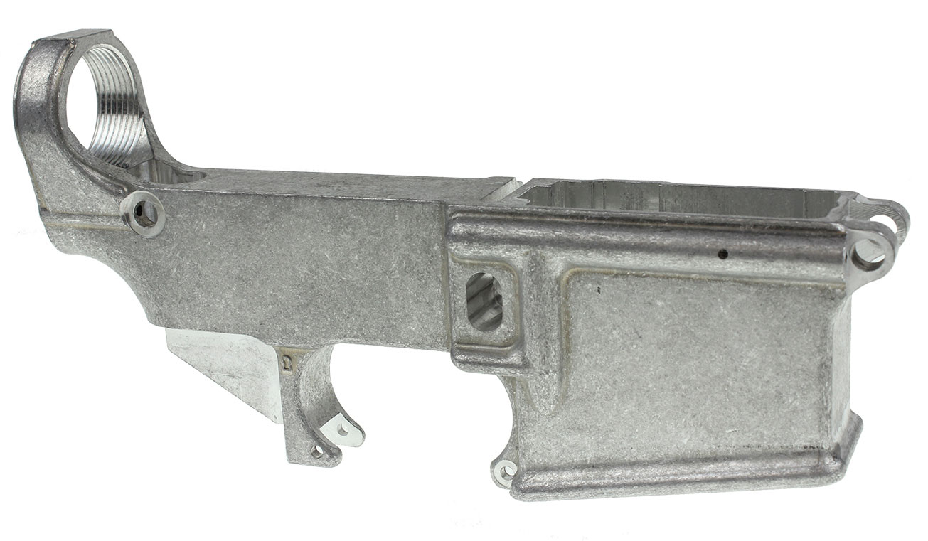 US Tactical AR-15 80% Lower Receiver 7075 T6 Aluminum Mil-Spec Milled  Anchor Harvey Forging