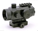 Phantom Tactical 2X40MR 4 Reticle Red Dot Sight with Detachable 2x Magnifier