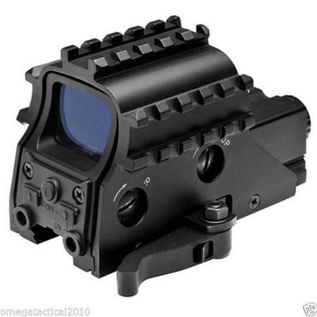 Armored Rail Sight System QR 2 MOA Green Dot Reflex Sight w/ Red Laser