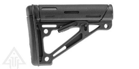 Hogue AR15 Stock Mil-spec BLK RBR