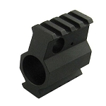 Omega Mfg AR-15/AR-10 .308 .936 Gas Block, Reg Profile, Slant, Top-Bottom Picatinny