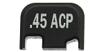 EL Tactical '.45 ACP' Engraved Glock Aluminum Slide Cover Plate Gen 4 - Black Anodized