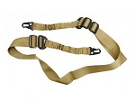 AR-15 Two Point Tactical Bungee Sling With HK Clips - Tan