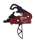 AR-15/M4 3 lb Drop In Ultra Match Skeletonized Performance Trigger System - Crimson Red - Engraved