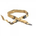 AR-15 Three Point Tactical Combat Sling With HK Clips - Tan