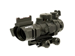 Sniper Tactical 4x32 Prismatic Glass Horseshoe Reticle Scope w/ Fiber Optic Sight