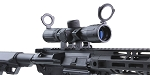 Aim Sports 4X30 Red & Green Illuminated Rubber Armored Rifle Scope with Scope Mounting Rings