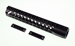 Omega Mfg AR-15 Slant Port Keymod Free Float Quad Rail 12