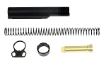 Davidson Defense Enhanced Ar-15 Mil-Spec Buffer Tube Kit With Ultra Heavy Duty Nitride Longer Castle Nut &  Ambidextrous  Sling Adapter End-Plate
