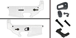 Delta Deals AR-15 Lower Enhancement Kit Featuring Armaspec Magazine Release - Black, Tactical Superiority Take Down and Pivot Pins - Black, Armaspec Ambidextrous Safety Selector - Grey