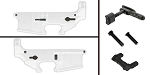 Delta Deals AR-15 Lower Enhancement Kit Featuring Strike Industries Magazine Release - Black, Tactical Superiority Take Down and Pivot Pins - Black, Armaspec Ambidextrous Safety Selector - Grey
