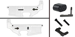 Delta Deals AR-15 Lower Enhancement Kit Featuring Omega Manufacturing Billet Magazine Release Button - Black, Tactical Superiority Take Down and Pivot Pins - Black, Armaspec Ambidextrous Safety Selector - Grey