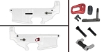 Delta Deals AR-15 Lower Enhancement Kit Featuring Armaspec Magazine Release - Red, Tactical Superiority Take Down and Pivot Pins - Black, Armaspec Ambidextrous Safety Selector - Grey