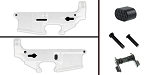 Delta Deals AR-15 Lower Enhancement Kit Featuring Omega Manufacturing Billet Magazine Release Button - Black, Tactical Superiority Take Down and Pivot Pins - Black, Guntec Ambidextrous Safety Selector - Black
