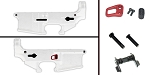 Delta Deals AR-15 Lower Enhancement Kit Featuring Armaspec Magazine Release - Red, Tactical Superiority Take Down and Pivot Pins - Black, Guntec Ambidextrous Safety Selector - Black