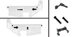 Delta Deals AR-15 Lower Enhancement Kit Featuring Strike Industries Magazine Release - Black, Tactical Superiority Take Down and Pivot Pins - Black, Guntec Ambidextrous Safety Selector - Black