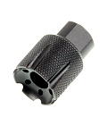 XXtreme Defense 9mm 1/2x36 Short Knurled Linear Muzzle Device & Flash Hider