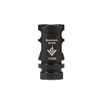 Aero Precision VG6 GAMMA 9mm 1/2x28 Muzzle Brake - Black Nitride