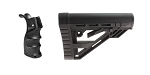 Delta Deals Omega Manufacturing AR-15 M4 Polymer Pistol Grip with Bottom Storage Compartment + Davidson Defense AR-15